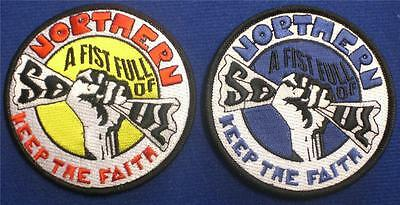Northern Soul Patch - A Fist Full Of Soul - White Or Blue