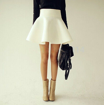 Mini Gonna Donna Vita Alta Autunno - High Waist Mini Skater Ball Skirts - 130010