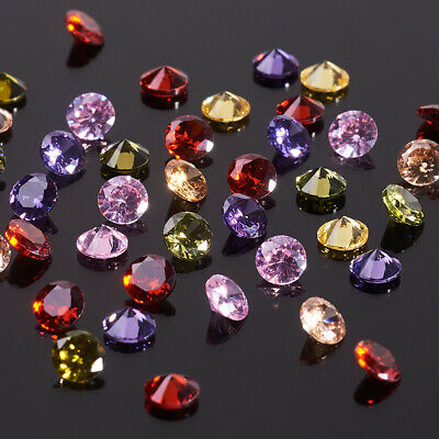Mixed Diamond Cubic Zirconia Cabochons Faceted Garment Jewelry DIY Embellishment