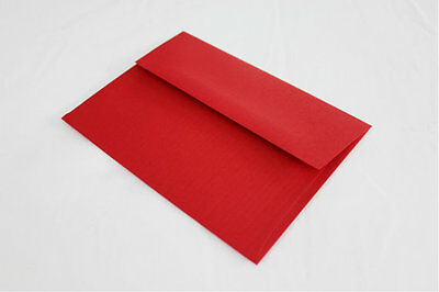 Red Envelopes for Cards & Invitations  -  A2 A6 A7 A9 Sizes - Various Quantities