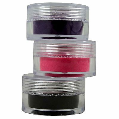 Sugar & Spice Nail Art Flock Powder Pink Purple Black Nail Polish Design