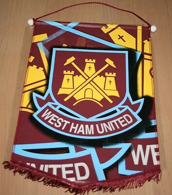 WEST HAM Large Hanging Pennant Flag 42x28cm NEW Official WHUFC Hammers United