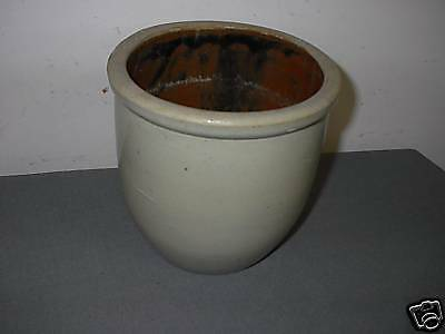 CROCK - CANISTER - BOWL - BROWN INSIDE - WATER - BUTTER