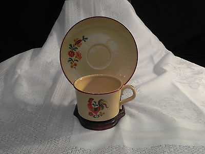 """Taylor Smith Taylor """"Reville Rooster"""" Vintage Coffe cup and saucer set"""