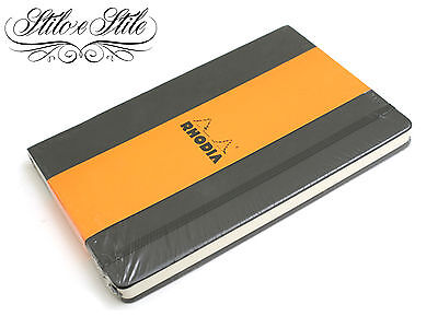 Webnotebook Rhodia A6 Black | Dot Grid Lined e Uni-Blank | Carta Clairefontaine