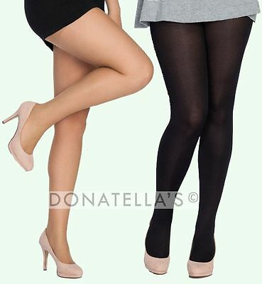 PLUS SIZE TALL tights pantyhose sheer/opaque EXTRA LONG 16 18 20 1X XL 2X semi