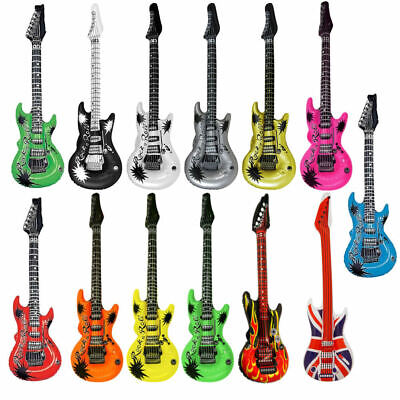 Inflatable Air Guitar - Choose From 13 Colours - 106cm Blow Up Rock & Roll Party