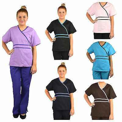 Natural Uniforms Medical Mock Scrubs Set/ Uniform Nurse- BN Choose Size & Colour