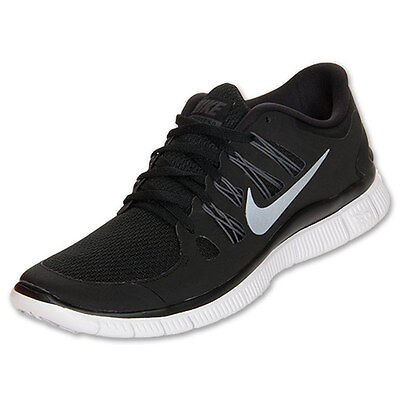 size 40 5760c 0b1c9 NIKE FREE 5.0 Womens Size Running Shoes Black White Silver Sneakers 580591  002