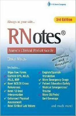 Rn Notes : Nurse's Clinical Pocket G by Myers (E-book)