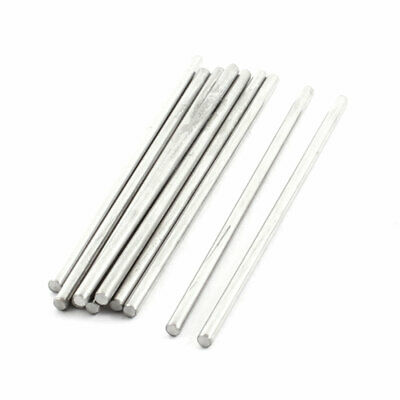 10Pcs Silver Tone Stainless Steel Shaft Axle Rod 70mmx2.5mm for RC Car