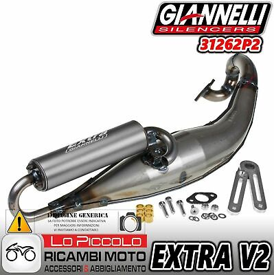 31262P2 Marmitta Giannelli Scarico Extra V2 Peugeot Jet Force 50 C Tech 2009