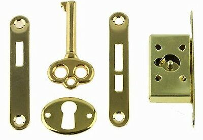 Gold Plated Jewelry Box Lock Set;Full Mortise,Humidors,Music boxes