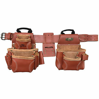 17-Pocket 4pc Pro Framer's Combo Tool Belt Custom Leathercraft 21448 New