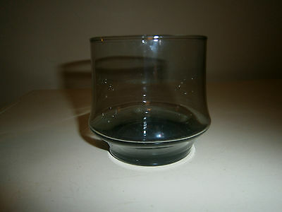 1 - Vintage Libbey Glass Ware Smokey Olive Green/Brown Tint Juice Cup