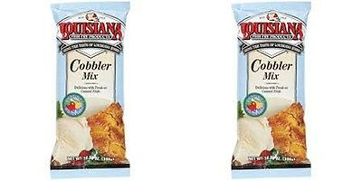 2 BAGS LOUISIANA FISH FRY PRODUCTS COBBLER MIX free new orleans recipe peach