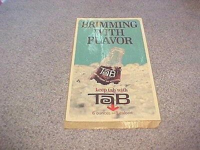 TAB SODA DECAL**LARGE**1964**NOS**MINT**PRODUCT OF COCA COLA**