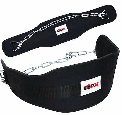 Weight lifting DIPPING dip BELT neoprene belt with Chain exercise fitness gym