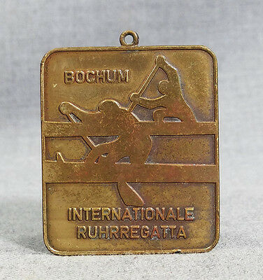 VTG GERMAN BOCHUM INTERNATIONAL RUHR REGATTA CANOE KAYAK ROWING BOAT MEDAL AWARD