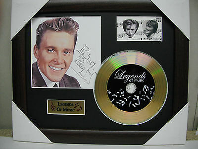 Billy Fury Preprinted Autograph, Gold Disc & Plectrum Presentation