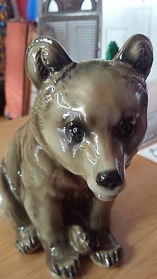 FIGURINE kuchenreuther kunstabteilung selb rosenthal glass pottery bear germany