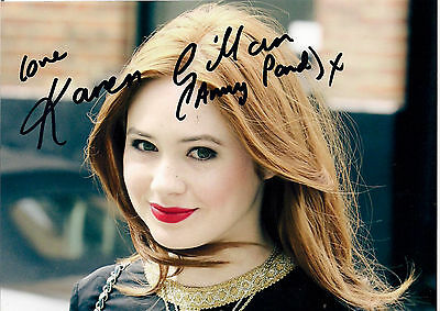 KAREN GILLAN DR WHO AMY SIGNED AUTOGRAPH 6 x 4 PRE PRINTED PHOTO MATT SMITH ERA