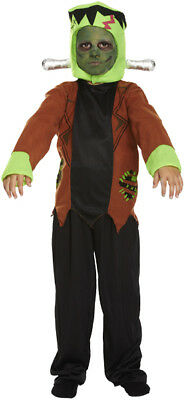 S/M/L Childs Frankenstein Costume Kids Monster Fancy Dress Boys Halloween
