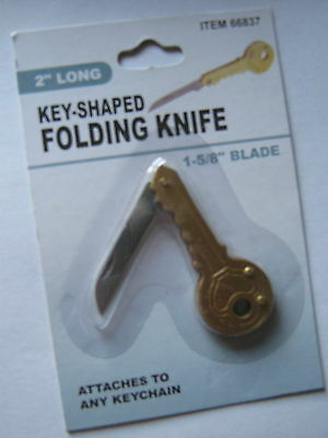 NEW KEY SHAPED KNIFE FOR KEYRING,GIFT FREE U/S S/H LOOK