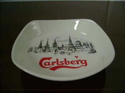 BURLEIGH SMALL DISH ADVERTISING CARLSBERG MADE FOR  H C W MITCHAM