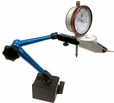 "Magnetic Base 0.0005"" Test Indicator And 0.001"" Dial Indicator Fine Adjustment"