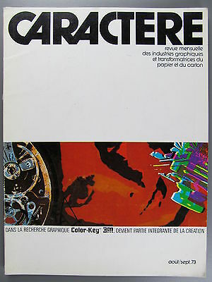 Caractere, August-September, 1973, French Language Magazine