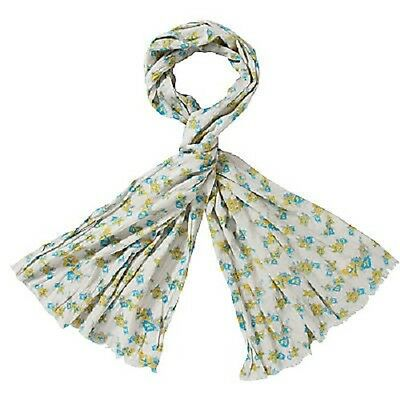 JOHN LEWIS WOMEN/'S FLORAL CRUSH COTTON WRAP SCARF RED NEW RRP £30