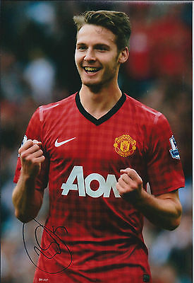 Nick POWELL Signed Autograph 12x8 Photo AFTAL COA Manchester United Authentic