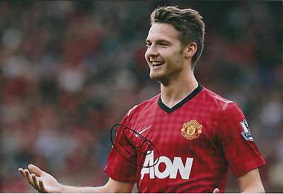 Nick POWELL Signed Autograph 12x8 Photo AFTAL COA Manchester United Genuine