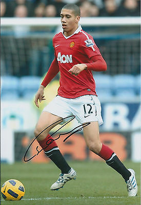 Chris SMALLING Signed Autograph  Photo AFTAL COA Manchester United Man Utd RARE
