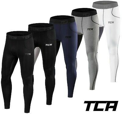 Mens Boys TCA Thermal Compression Tights Base Layer Warm Running Gym Trousers