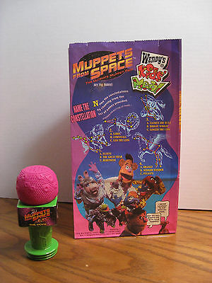 Wendy's Kids Meal Toy Muppets From Space Movie - Microphone w/ bag 1999