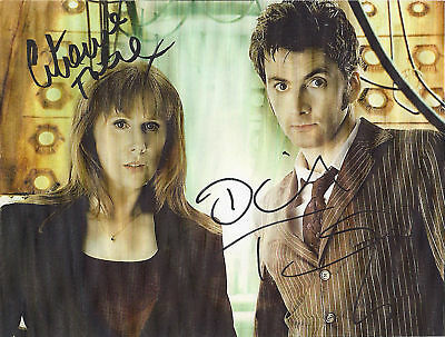 DAVID TENNANT CATHERINE TATE DR WHO DONNA SIGNED AUTOGRAPH 6 x 4 PRE PRINT PHOTO