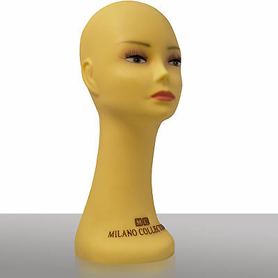 """MILANO COLLECTION 16"""" inch Heavy Duty Silicone Wig Head / Hat Display Mannequin"""