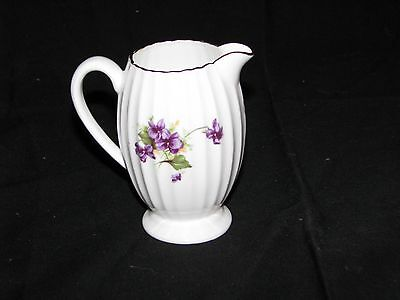 Radfords Crown China Made In England Creamer Pitcher white/floral/gold 8516 N