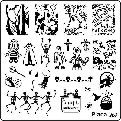 Set to Choose Nail Art Stamping Plates Halloween Collection Metal,Silver,nailmix