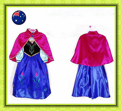 QUALITY Girl Frozen Dress Princess Queen Anna Birthday Party Costume XMAS GIFT