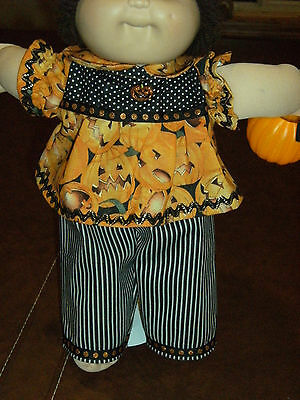 """Cabbage Patch 16"""" Doll Clothes~2 pc. HALLOWEEN JACK-O-LANTERNS Pants & Top/Shirt"""