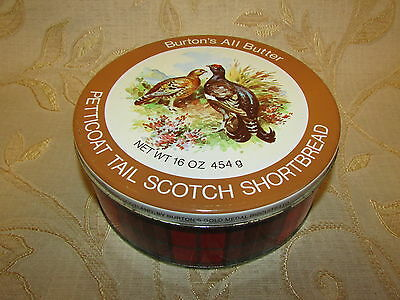 Large Vintage Collectable Petitcoat Tail Scotch Shortbread Tin Box