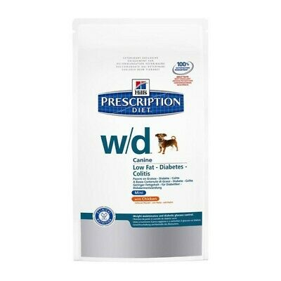 HILL S prescription diet w/d canine mini low fat  secco gusto pollo kg.1,5