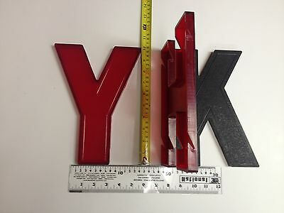 "10"" Wagner Slotted Movie Theatre Marquee Sign Big Letters Numbers Large Vintage"