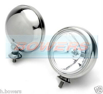 "PAIR OF (x2) 5"" BMW MINI CHROME SPOT/DRIVING LAMPS/LIGHTS WIPAC S6055 MAXTEL"