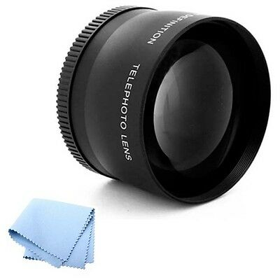 58mm High Resolution 2X Telephoto Lens for Canon 60D SLR Camera