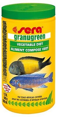 SERA Granugreen 1000ml/600g Granulated Pet Feed For Cichlid