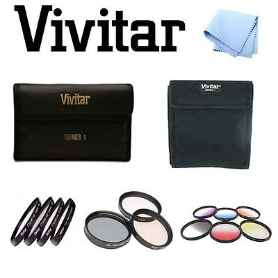 58mm Vivitar Graduated Color/Close Up/UV CPL FLD Filters For Canon 350D SL1 100D